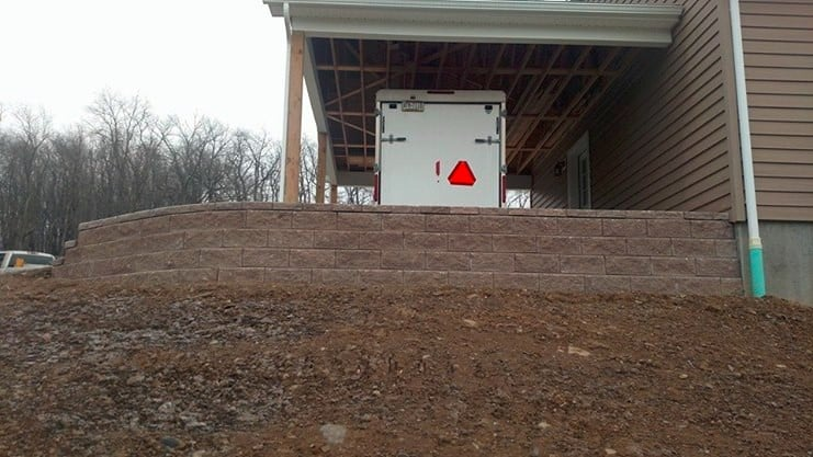 red-retaining-wall